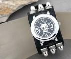 Metal, punk hodinky- unisex