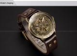 Pánské mechanické Bronze Skeleton hodinky