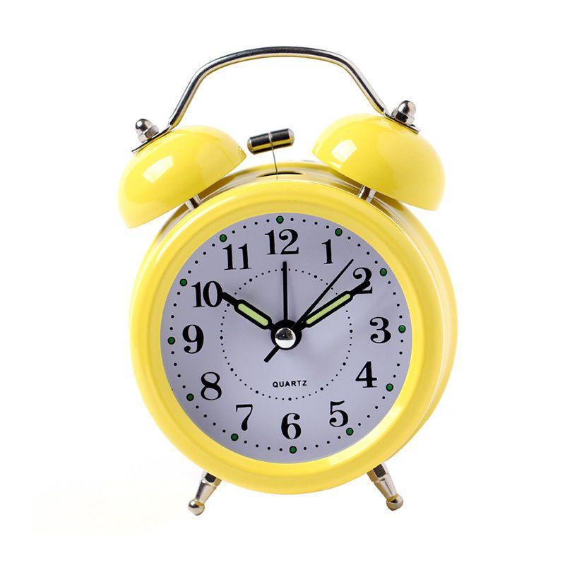 Retro budík - žlutý