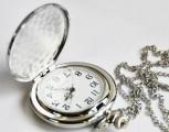 Kapesní hodinky stříbrné