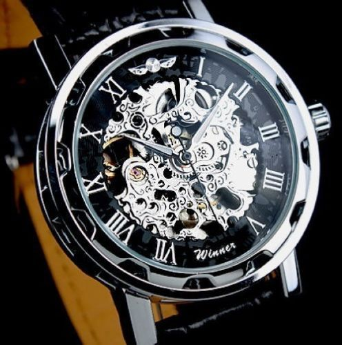 Pánské náramkové hodinky Skeleton2