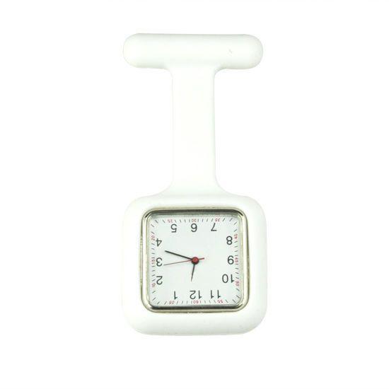 Přívěskové hodinky pro zdravotní sestry silikonové hranaté