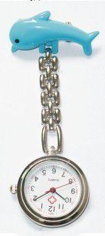 Přivěskové hodinky pro zdravtoní sestry delfín - Přívěskové hodinky pro zdravotní sestry Delfín modré