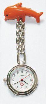 Přivěskové hodinky pro zdravtoní sestry delfín - Přívěskové hodinky pro zdravotní sestry Delfín červené