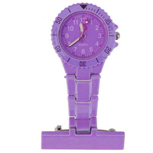 Přivěskové hodinky pro zdravtoní sestry MODERN - fialové