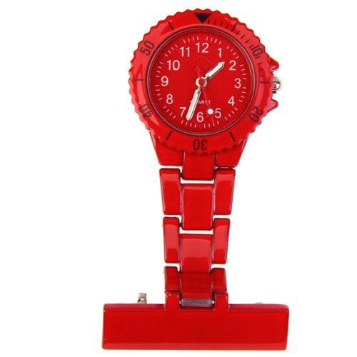 Přivěskové hodinky pro zdravtoní sestry MODERN - červené