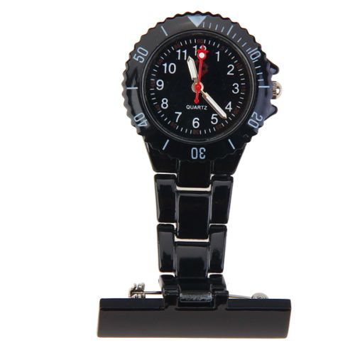 Přivěskové hodinky pro zdravtoní sestry MODERN - černé