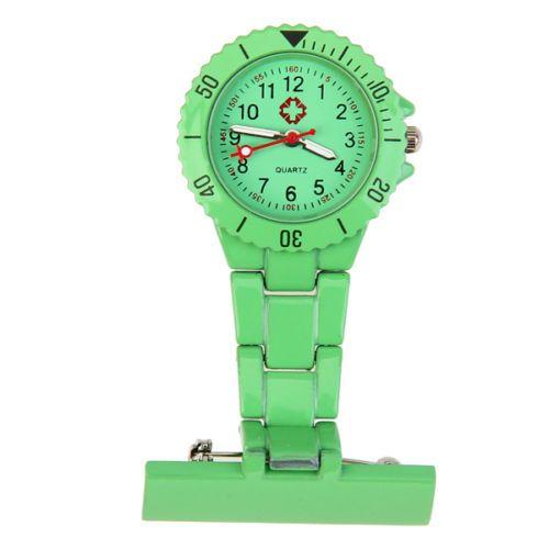 Přivěskové hodinky pro zdravtoní sestry MODERN - zelené