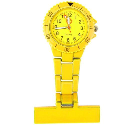 Přivěskové hodinky pro zdravtoní sestry MODERN - žluté