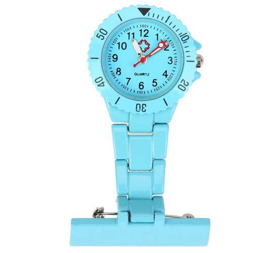 Přivěskové hodinky pro zdravtoní sestry MODERN - světle modré