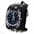punk, metal hodinky s kostlivcem