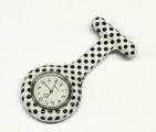 Přívěskové hodinky pro zdravotní sestry SILIKONOVÉ retro