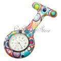 Přívěskové hodinky pro zdravotní sestry silikonové barevné