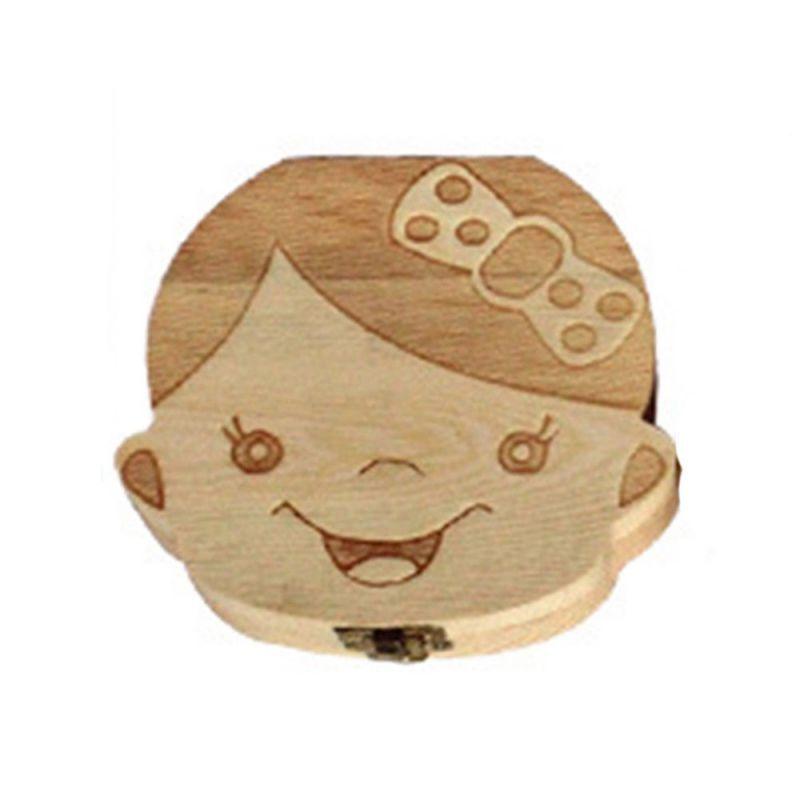 Dřevěná krabička na mléčné zoubky