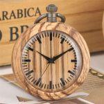 Dřevěné hodinky kapesní