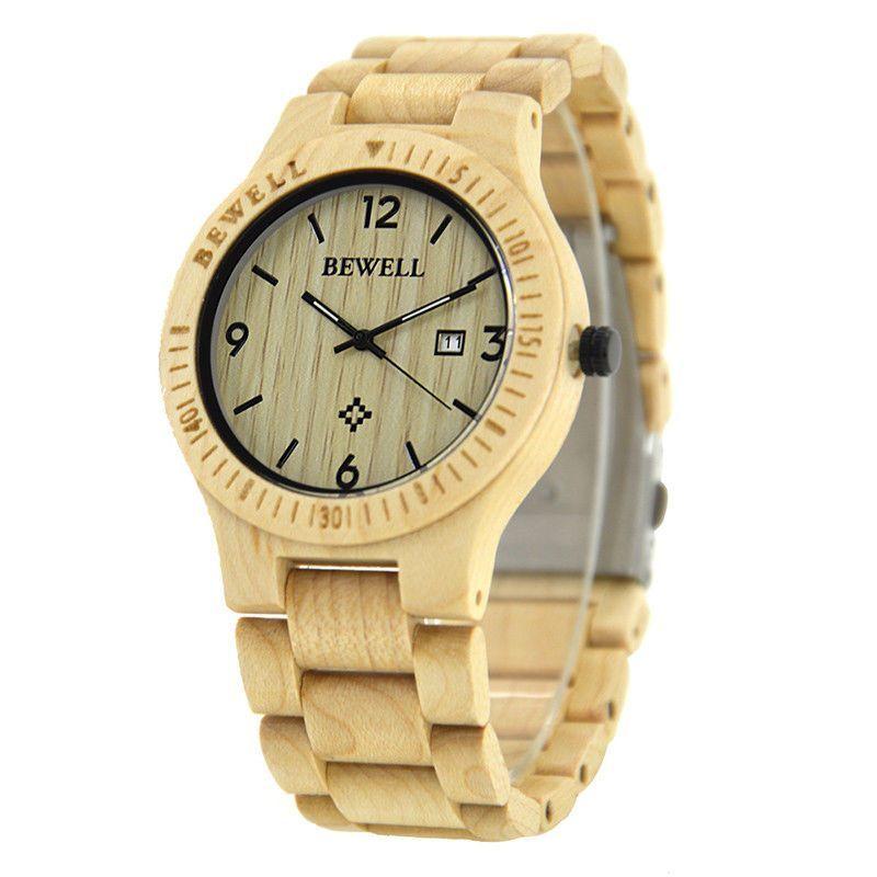 Pánské dřevěné hodinky BeWell, různé barvy - Maple