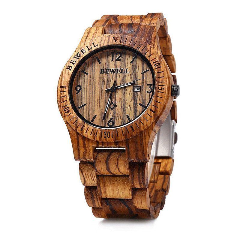 Pánské dřevěné hodinky BeWell, různé barvy - Zebra
