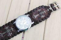 punk, metal hodinky s lebkou